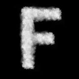 Letter F made of the clouds Stock Photo