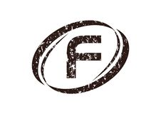 Letter F Rough Logo. Design Template Vector Stock Photo