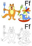 Letter f worksheet Stock Image