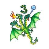 Letter of Fantasy Cyrillic Alphabet - Azbuka with Dragon Stock Image