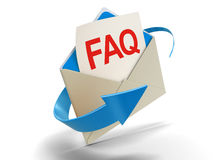Letter FAQ (clipping path included) Royalty Free Stock Image