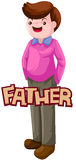 Letter of father stock illustration