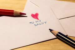 Letter for the father's day Royalty Free Stock Image