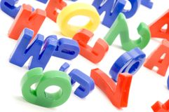Letter and figure macro Royalty Free Stock Photo
