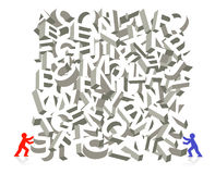 Letter figure piling Royalty Free Stock Image