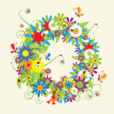 Letter A, floral design Royalty Free Stock Image