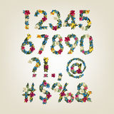 Letter. Flower  alphabet. Colorful font Stock Image