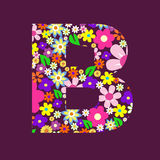 Letter of flowers B Royalty Free Stock Photography