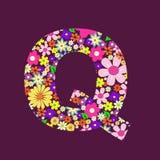Letter of flowers Q Stock Image
