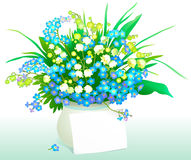 Letter and flowers. Royalty Free Stock Photos