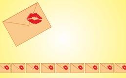 Letter frame. Vector illustration of letters on light background Stock Photography