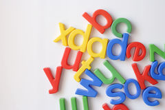 Letter fridge magnets stock images
