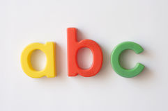 Letter fridge magnets Stock Photos