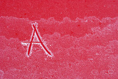 Letter A on frost Royalty Free Stock Images