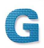Letter G. Isolated on the white background Royalty Free Stock Images