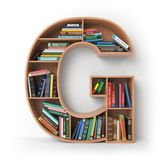 Letter G. Alphabet in the form of shelves with books  on Stock Photography