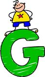 Letter G boy vector illustration