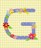The letter G Bright floral element of colorful alphabet in  Stock Images