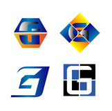 Letter G Company logo icon template set Royalty Free Stock Photo