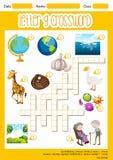 The Letter G Crossword. Illustration stock illustration
