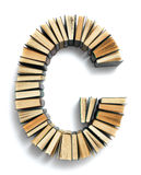 Letter G formed from the page ends of books Royalty Free Stock Image
