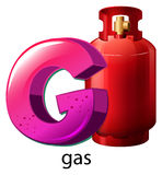 A letter G for gas Royalty Free Stock Photography