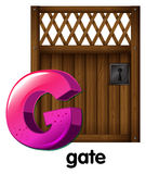 A letter G for gate Royalty Free Stock Photos