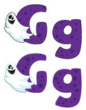 Letter G ghost. Illustration of a letter G ghost royalty free illustration
