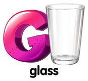 A letter G for glass Royalty Free Stock Image