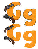 Letter G gun Stock Photos