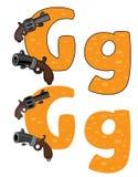 Letter G gun Stock Photos