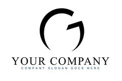 Letter G Logo. An illustration of a logo representing abstract letter G logo stock illustration