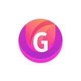 Letter G logo abstract circle shape element. Vector round compan. G logo abstract circle shape element. Vector round company icon sign Stock Photography