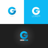 Letter G logo design icon set background Royalty Free Stock Photo