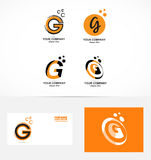 Letter G logo icon set Stock Photography