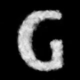 Letter G made of the clouds Stock Photography