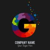 Letter G Modern Shape Logo Design Template Element vector illustration