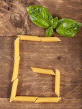 The letter G with pasta Stock Images