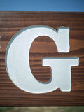 The Letter G Royalty Free Stock Images