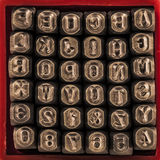 Letter & getal stempels Royalty-vrije Stock Foto's