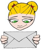 Letter girl 06 Royalty Free Stock Image