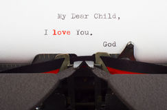 Letter from God. About His love Stock Images