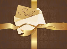 Letter and gold ribbon Royalty Free Stock Photo
