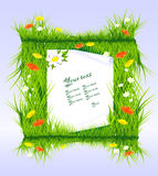 Letter in grass Royalty Free Stock Photography