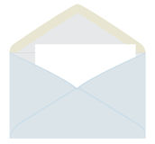 Letter from the gray envelope Royalty Free Stock Photos