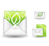 Letter green. A green letter vector icon Stock Images
