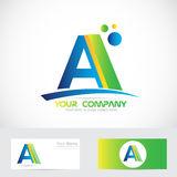 Letter A green blue logo Royalty Free Stock Images