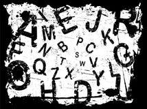 Letter Grunge Background 1 royalty free illustration