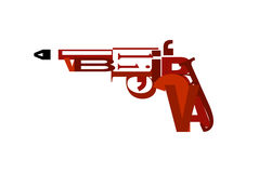 Letter gun. This is a digital drawing of a gun made of letters Stock Photos