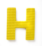 Letter H. Isolated on the white background Royalty Free Stock Photography